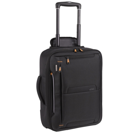 2 in 1 Troller / ghiozdan business casual colectia Pilotos 404312, laptop 15,6 inch