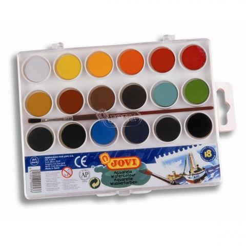 Acuarela Jovi 18 culori 800/18