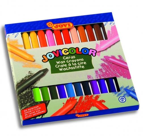 Creioane cerate Jovicolor 24 culori art 980/24