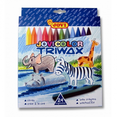 Creioane cerate TriWax Jovi 24 culori art 973/24