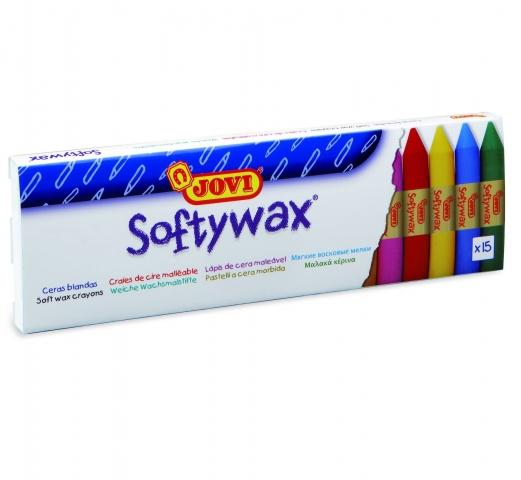 Creioane cerate moi Softywax Jovi 15 culori art 930/15