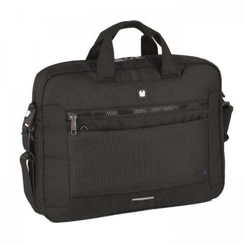 Geanta servieta/ de umar business Gabol, colectia Info, laptop 15,6 inch 410110