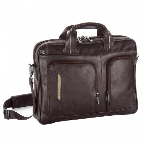 Geanta servieta/ de umar business executive Gabol 406201, negru, colectia Shadow, laptop 15,6 inch