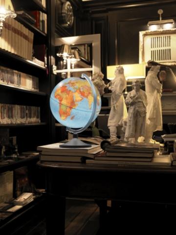 Glob geografic pamantesc iluminat Elite 25 cm
