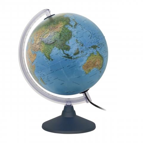 Glob geografic pamantesc iluminat Elite 30 cm