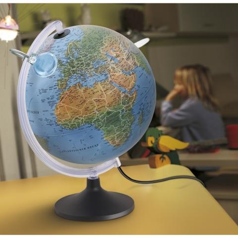 Glob geografic pamantesc iluminat Lumierissimo 30 cm
