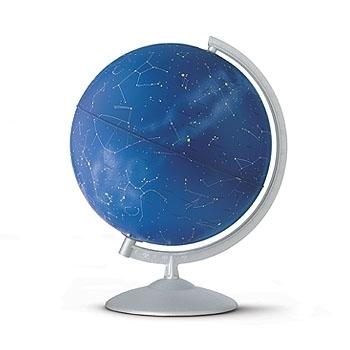 Glob geografic pamantesc iluminat Stelare Perla 30 cm