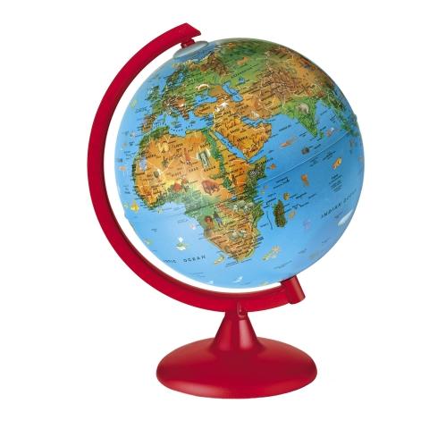 Glob geografic pamantesc iluminat Zoo 25 cm