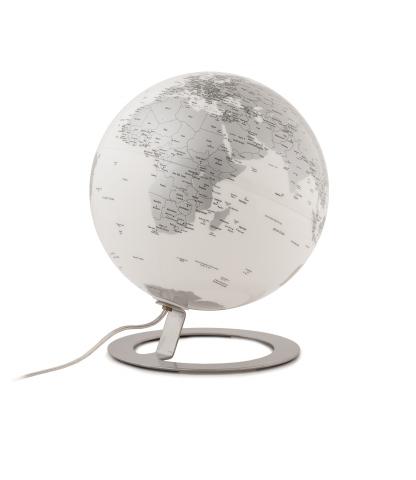 Glob iluminat IGlobe Light Chrome 25 cm, baza metalica din aluminiu