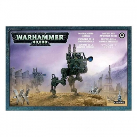 Joc de societate cu miniaturi Warhammer 40.000 - Astra Militarum Sentinel, limba engleza, extensie
