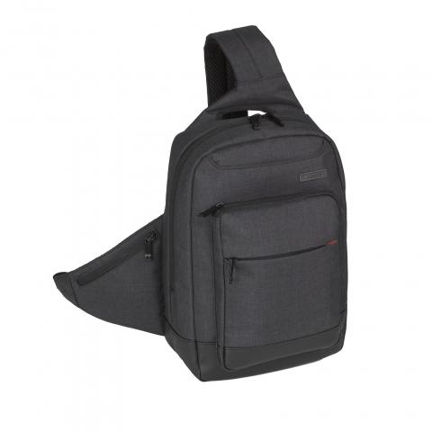Sling backpack / ghiozdan business casual cu bretea tip patrontas, peste umar cu prindere in dreptul pieptului Gabol art 408614