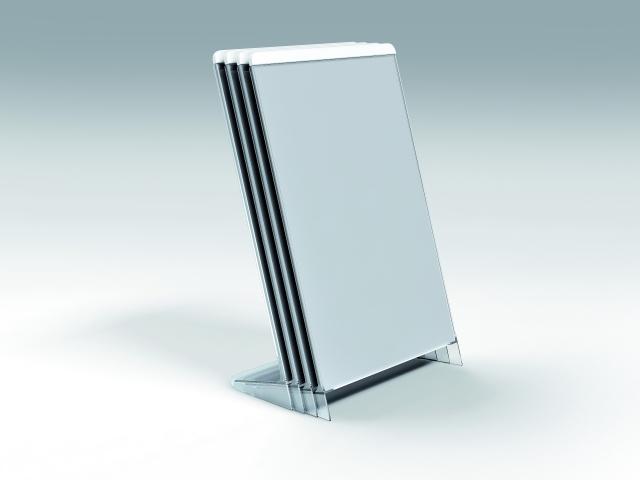 Suport A4 vertical pentru imagini, reclame sau brosuri